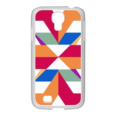 Shapes In Triangles Samsung Galaxy S4 I9500/ I9505 Case (white)