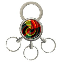 Spiral 3 Ring Key Chain