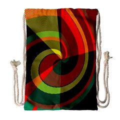 Spiral Large Drawstring Bag