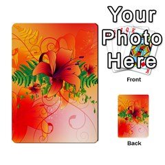 Awesome Red Flowers With Leaves Multi-purpose Cards (Rectangle)