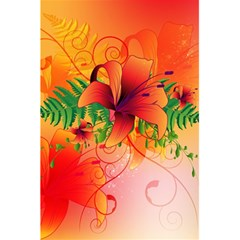 Awesome Red Flowers With Leaves 5 5  X 8 5  Notebooks