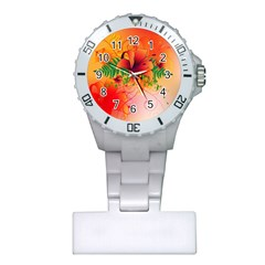 Awesome Red Flowers With Leaves Nurses Watches