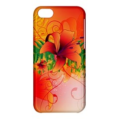 Awesome Red Flowers With Leaves Apple iPhone 5C Hardshell Case
