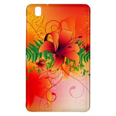 Awesome Red Flowers With Leaves Samsung Galaxy Tab Pro 8.4 Hardshell Case
