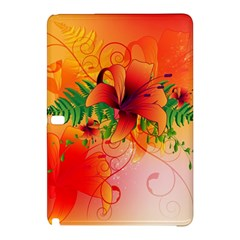 Awesome Red Flowers With Leaves Samsung Galaxy Tab Pro 12.2 Hardshell Case