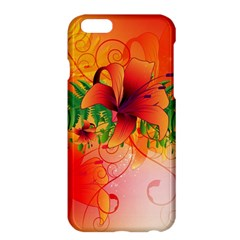 Awesome Red Flowers With Leaves Apple Iphone 6 Plus/6s Plus Hardshell Case