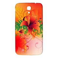 Awesome Red Flowers With Leaves Samsung Galaxy Mega I9200 Hardshell Back Case