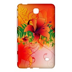 Awesome Red Flowers With Leaves Samsung Galaxy Tab 4 (7 ) Hardshell Case