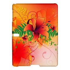 Awesome Red Flowers With Leaves Samsung Galaxy Tab S (10 5 ) Hardshell Case