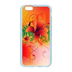 Awesome Red Flowers With Leaves Apple Seamless iPhone 6/6S Case (Color)