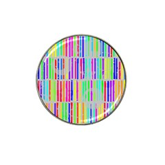 Colorful vintage stripes Hat Clip Ball Marker (4 pack)