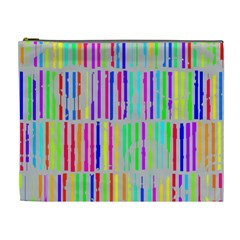 Colorful vintage stripes Cosmetic Bag (XL)