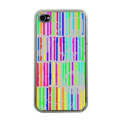 Colorful vintage stripes Apple iPhone 4 Case (Clear)