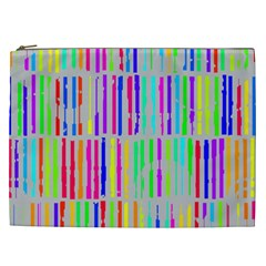 Colorful vintage stripes Cosmetic Bag (XXL)