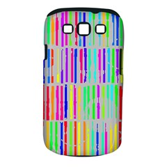 Colorful vintage stripes Samsung Galaxy S III Classic Hardshell Case (PC+Silicone)