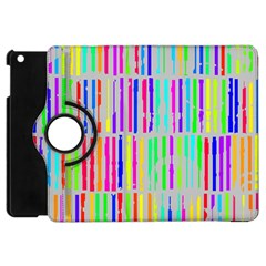 Colorful vintage stripes Apple iPad Mini Flip 360 Case