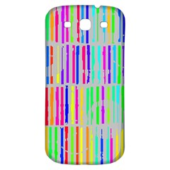 Colorful vintage stripes Samsung Galaxy S3 S III Classic Hardshell Back Case
