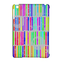 Colorful vintage stripes Apple iPad Mini Hardshell Case (Compatible with Smart Cover)