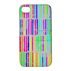 Colorful vintage stripes Apple iPhone 4/4S Hardshell Case with Stand
