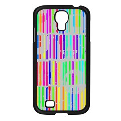 Colorful vintage stripes Samsung Galaxy S4 I9500/ I9505 Case (Black)