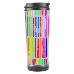 Colorful vintage stripes Travel Tumbler