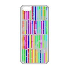 Colorful Vintage Stripes Apple Iphone 5c Seamless Case (white)