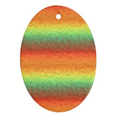 Gradient chaos Ornament (Oval)