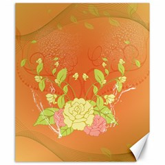 Beautiful Flowers In Soft Colors Canvas 20  X 24