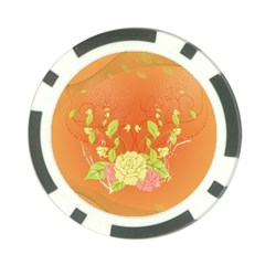 Beautiful Flowers In Soft Colors Poker Chip Card Guards