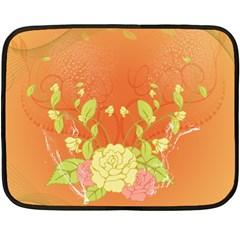 Beautiful Flowers In Soft Colors Fleece Blanket (Mini)