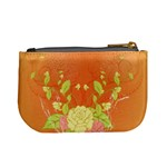 Beautiful Flowers In Soft Colors Mini Coin Purses Back