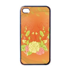 Beautiful Flowers In Soft Colors Apple iPhone 4 Case (Black)