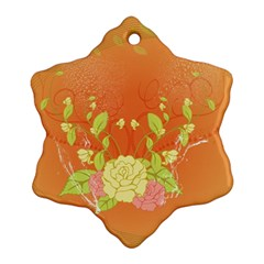 Beautiful Flowers In Soft Colors Ornament (snowflake)