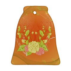 Beautiful Flowers In Soft Colors Ornament (Bell)