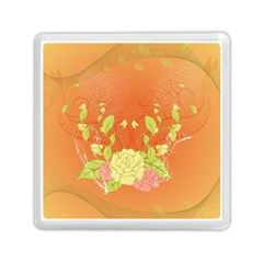 Beautiful Flowers In Soft Colors Memory Card Reader (square)