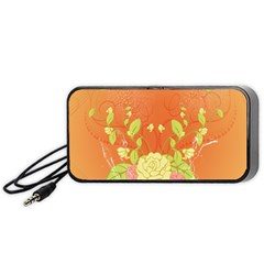 Beautiful Flowers In Soft Colors Portable Speaker (Black)