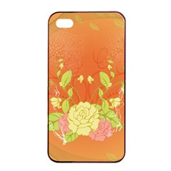 Beautiful Flowers In Soft Colors Apple Iphone 4/4s Seamless Case (black)