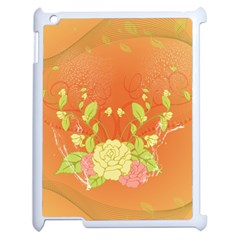 Beautiful Flowers In Soft Colors Apple iPad 2 Case (White)