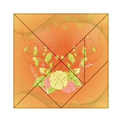 Beautiful Flowers In Soft Colors Acrylic Tangram Puzzle (6  x 6 )
