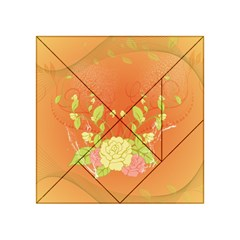 Beautiful Flowers In Soft Colors Acrylic Tangram Puzzle (4  x 4 )
