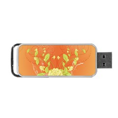 Beautiful Flowers In Soft Colors Portable USB Flash (One Side)