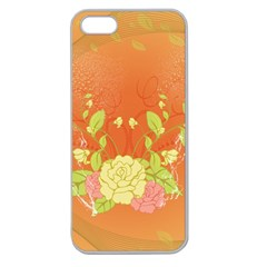Beautiful Flowers In Soft Colors Apple Seamless iPhone 5 Case (Clear)