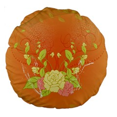 Beautiful Flowers In Soft Colors Large 18  Premium Round Cushions