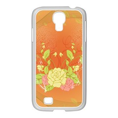 Beautiful Flowers In Soft Colors Samsung GALAXY S4 I9500/ I9505 Case (White)
