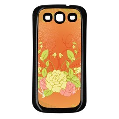 Beautiful Flowers In Soft Colors Samsung Galaxy S3 Back Case (Black)