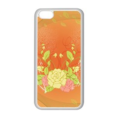 Beautiful Flowers In Soft Colors Apple Iphone 5c Seamless Case (white)