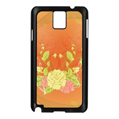 Beautiful Flowers In Soft Colors Samsung Galaxy Note 3 N9005 Case (Black)
