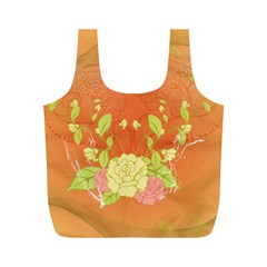 Beautiful Flowers In Soft Colors Full Print Recycle Bags (m)