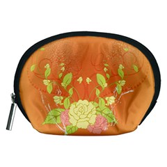 Beautiful Flowers In Soft Colors Accessory Pouches (medium)