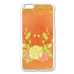 Beautiful Flowers In Soft Colors Apple Iphone 6 Plus/6s Plus Enamel White Case
